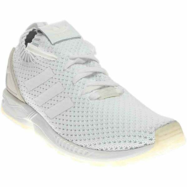 adidas Zx Flux Primeknit  Casual Running  Shoes White Mens - Size 7.5 D