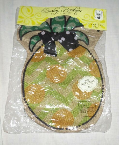 Burlap Boutique Evergreen Decorative Garden Flag The Naturals New in package