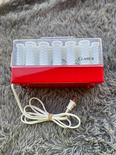 Red Case CLAIROL INSTANT HEAT 20 WAX CORE HOT ROLLERS CURLERS Model C 20 1 Clips $42.99