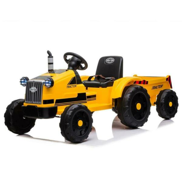SAFE 12V Kids Ride On Tractor Car Toys with Trailer 3 Speeds Remote Control $155.99