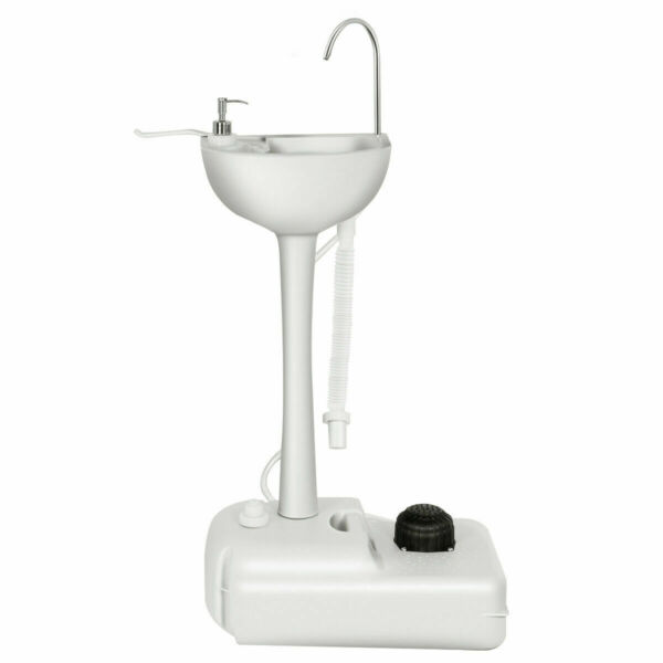 Removable Camping Hygiene Sink Water Tank Wash Basin Portable RV Home w Wheels $59.49
