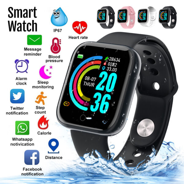 Waterproof Smart Watch Heart Rate Tracker Fitness Wristband For iPhone Android $16.99