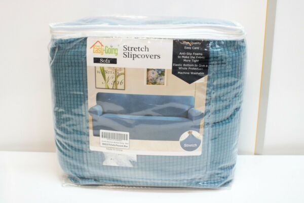 Easy Going Stretch Slipcover Sofa Peacock Blue $29.95