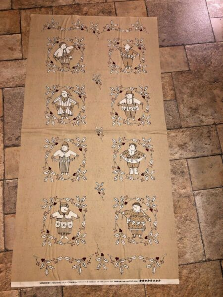 MODA Snowbound 100% cotton fabric Panel approx 24 x 44 Fawn Snowman Snowlady