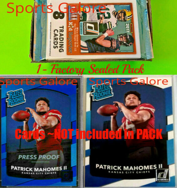 2017 Panini Donruss Football💥1 Pack from 36 Count Factory  Sealed Box💥