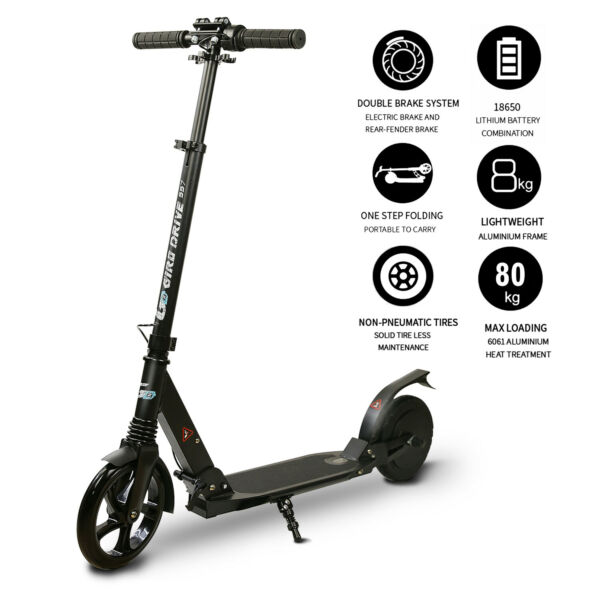 ** Electric Scooter for Teens Folding 8quot;Tire 3 Adjustable Heights Black $149.00