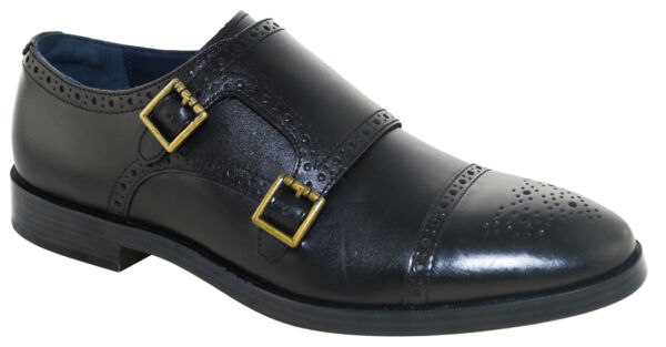 Cole Haan Men#x27;s Jefferson Grand Double Monk Strap Oxford Black Style 26166 $54.99