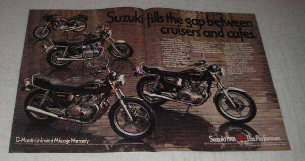 1981 Suzuki GS 450T and GS 550T Motorcycles Ad $16.99