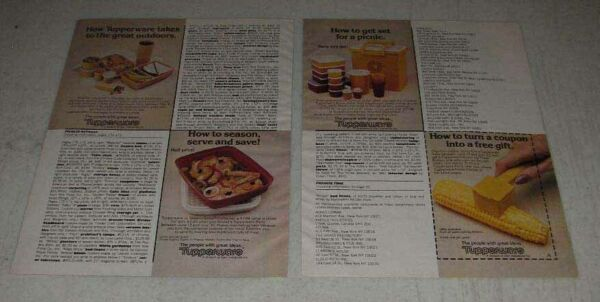 1983 Tupperware Ad Outdoor Sets Butter Up $16.99