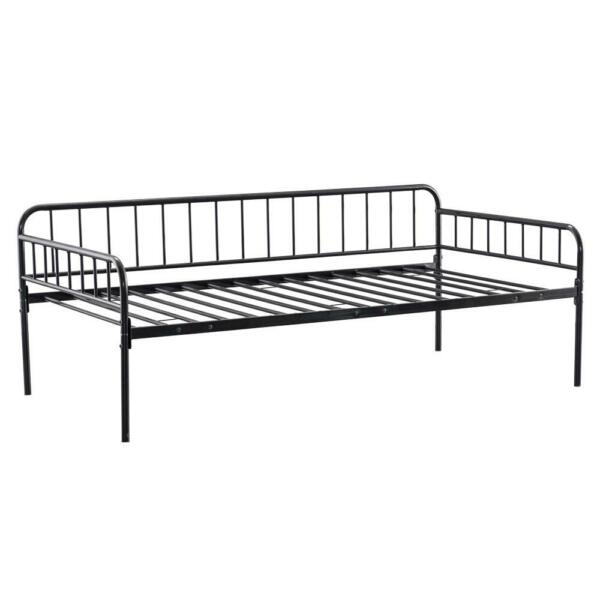 New Metal Daybed Twin Size Bed Frame High Bed Bottom Enough Storage Space Black $105.99