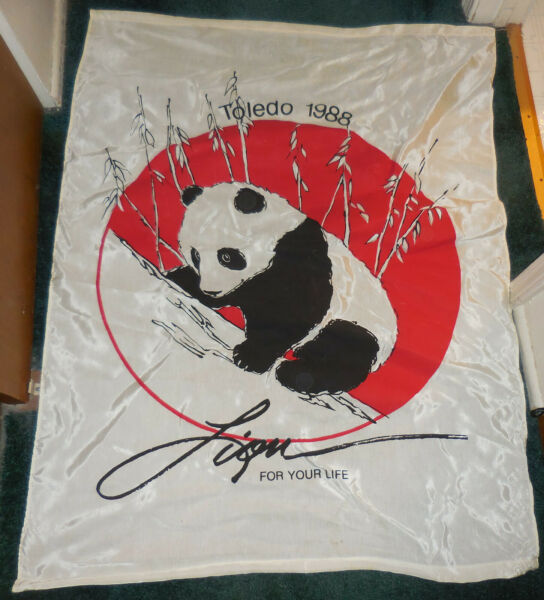 Vintage Lion for Your Life Store 19988 Panda Bear Toledo Ohio Zoo flag $19.99