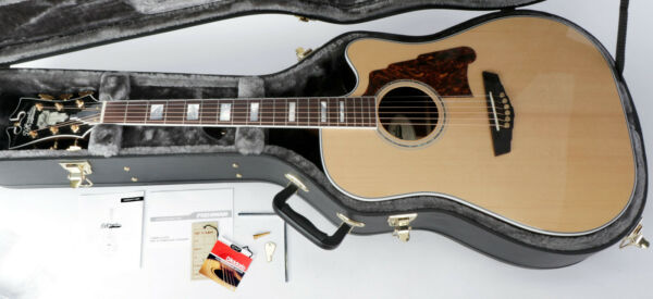 D'Angelico Excel Bowery Dreadnought Acoustic Guitar - Nat. - Neck Cracks at Nut