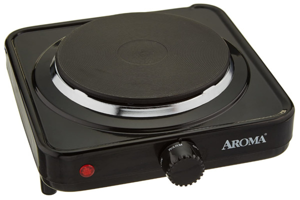 Electric Hot Plate for Cooking Portable Single Burner 1000W Cook Stove Black