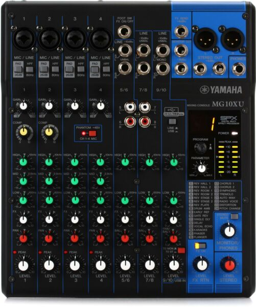 Yamaha MG10XU 10 channel Mixer with USB and FX $209.99