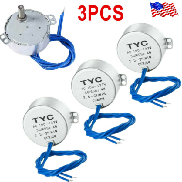 3Pcs Synchronous Turntable Motor Electric for Cup Turner Cuptisserie Tumbler NEW $11.63