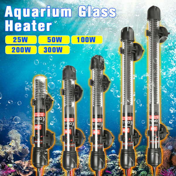 Aquarium Heater Anti Explosion Fish Tank Water Adjustable Temperature Control $10.59