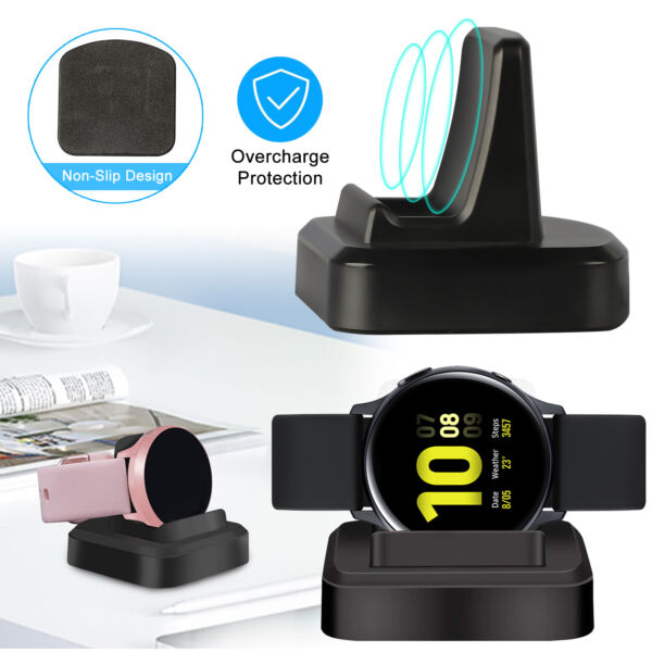 Wireless Charging Dock Charger Portable For Samsung Galaxy Watch Active Active 2 $11.97