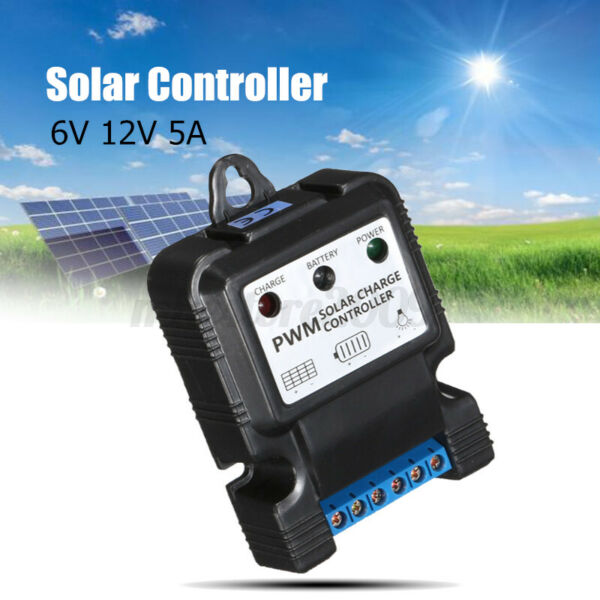6V 12V 10A Auto Solar Panel Charge Controller Battery Charger PWM LED Regulator