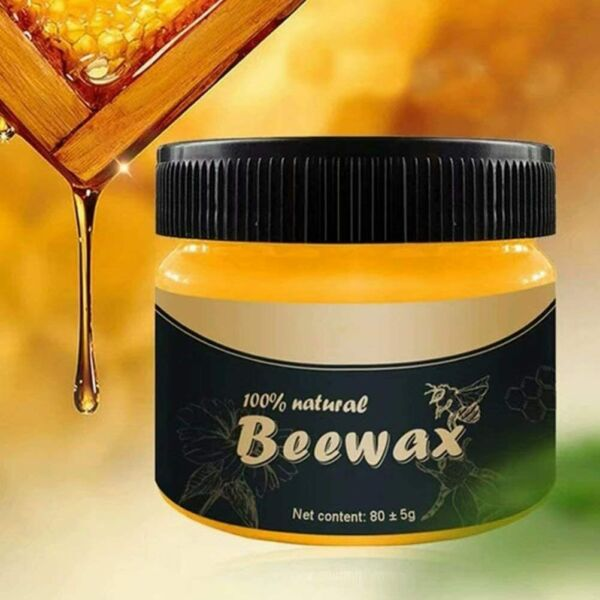 Natural Wood Seasoning Beewax Polish for Furniture Floor Protectantamp;Cleaner 80g $9.83