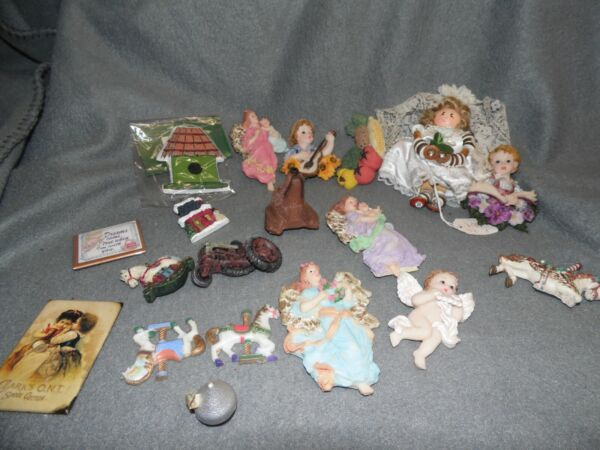 Lot of 19 Magnets Angels Dog Tractor Carousel Horse and more $20.00