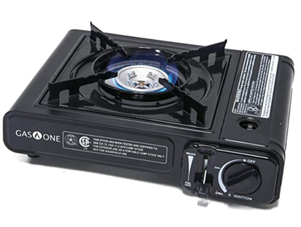Portable Butane Gas Stove Automatic Ignition Carrying Case 650 BTU Black $22.99