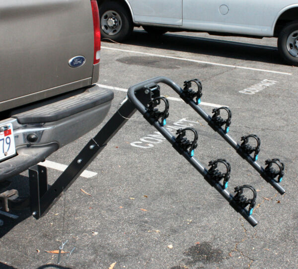 4 Bike Rack Bicycle Carrier Racks Hitch Mount Double Swing Down Arm Rack HD $99.99