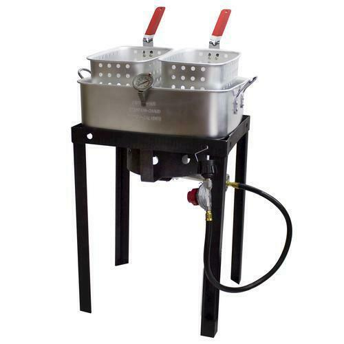 Propane Gas Dual Basket Fryer 18 Qt.