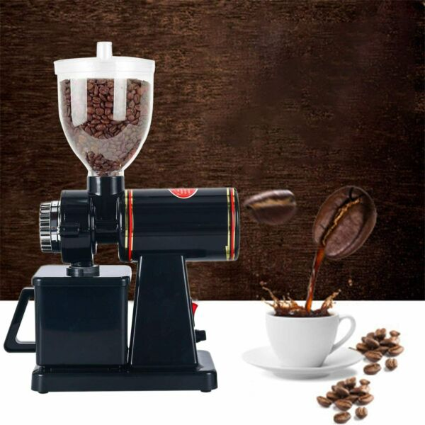 Commercial Electric Coffee Grinder Automatic Burr Mill Espresso Bean Home Grind