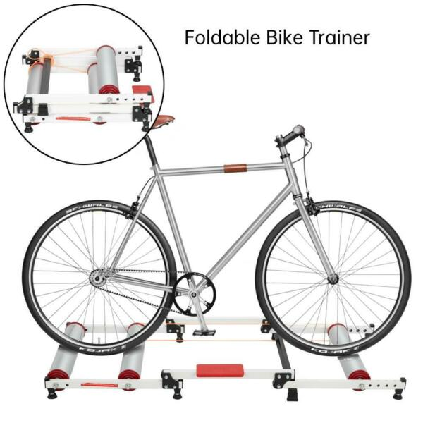 New Smooth Bicycle Bike Trainer Rollers Exercise Stand Adjustable Speed Portable $87.99