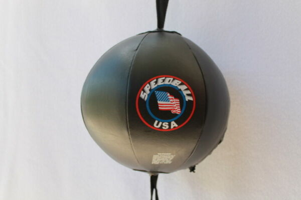 Boxing MMA Double End Bag with Bungee Cords Cable Straps Floor to Ceiling Rope $20.00