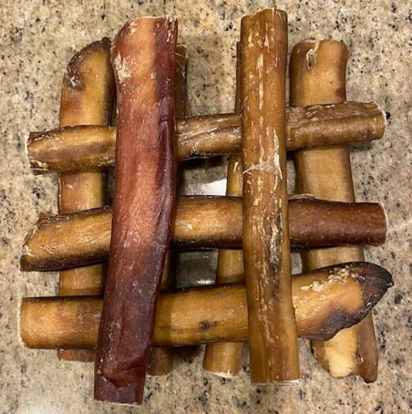 6quot; inch Black Angus JUMBO THICK BULLY STICKS Natural DOG chews Treats USA SOURCE $17.90