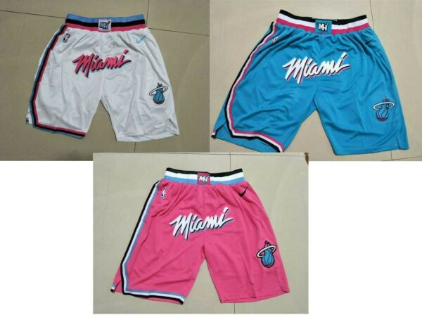 Miami Heat Shorts Pink White blue $34.99