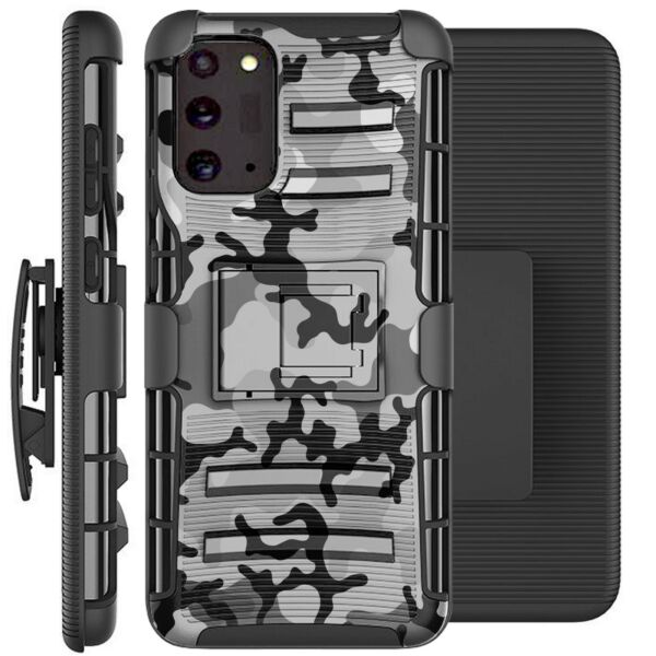 Holster Case For Galaxy Note20 Note 20 Ultra 5G Phone Cover GRAY STYLISH CAMO $13.99