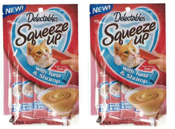 Delectables Squeeze Up Hartz Cat with Tuna amp; Shripm 2.0 oz Each 2 Pack $9.99
