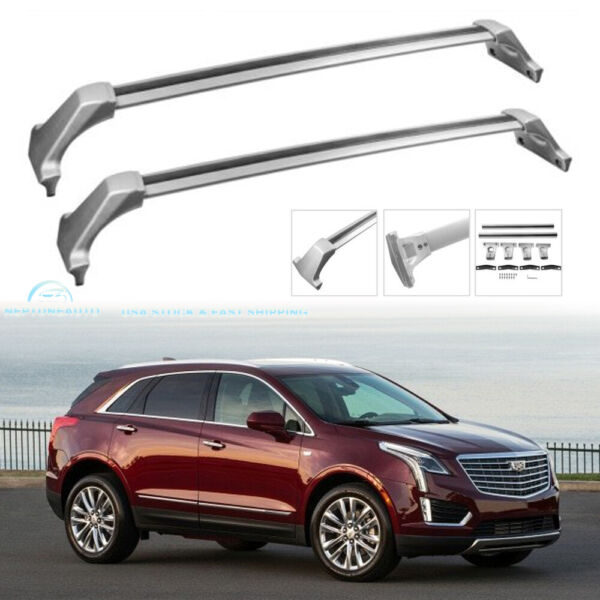 2x Carrier Luggage Roof Rack Cross Bars For 2017 2020 Cadillac Premium Base XT5 $92.88