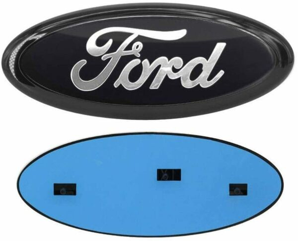 2004 2016 Ford F 150 F 250 FRONT GRILLE or REAR TAILGATE 9quot; Black Chrome Emblem $18.74