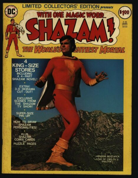 Limited Collectors#x27; Edition C 35 VG Fine Shazam Treasury Size DC Comics 1975