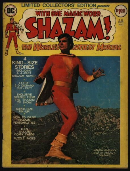 Limited Collectors#x27; Edition C 35 Very Good Shazam Treasury Size DC Comics 1975