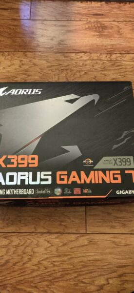 New Gigabyte x399 Aorus Gaming 7 AMD Threadripper Motherboard 4 Way SLI TR4