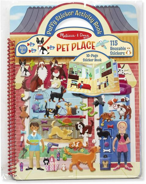 Puffy Sticker Activity Book Pet Place: Activity Books Coloring Painting... $9.99