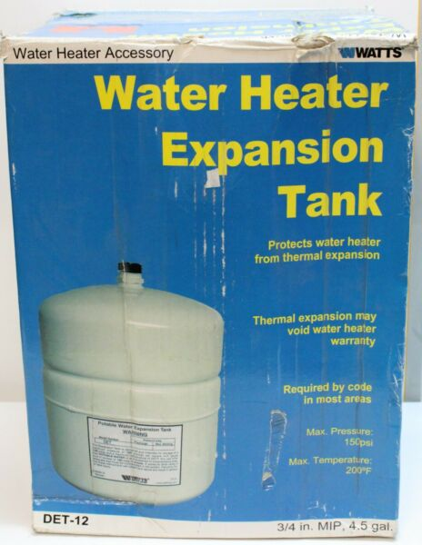 Watts DET 12 4.5 gal Potable Water Expansion Tank for 50 Gallon Water Heaters $44.95