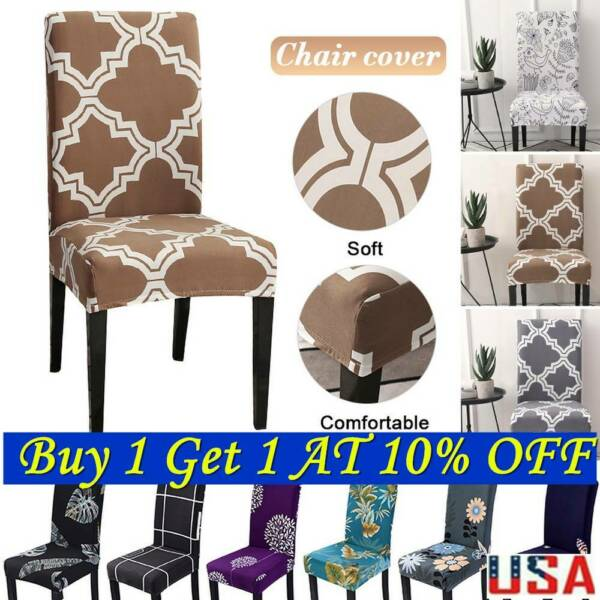 Stretch Spandex Chair Covers Slipcovers Dining Room Wedding Party Decor US $6.97