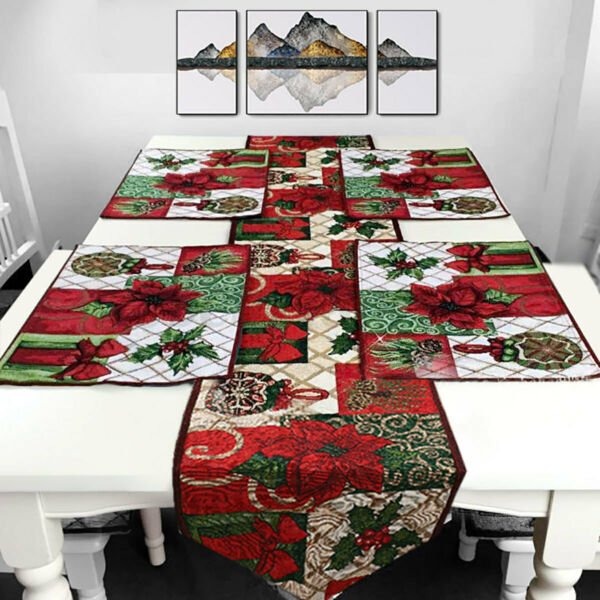 Christmas Style Table Flag Xmas Table Runners Tablecloth Party Home