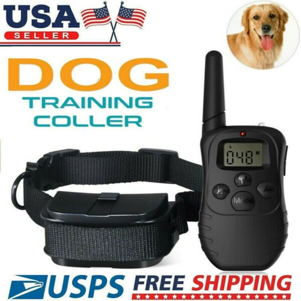 Dog Shock Collar With Remote Waterproof Electric For Large 330 Yard Pet Training $18.93