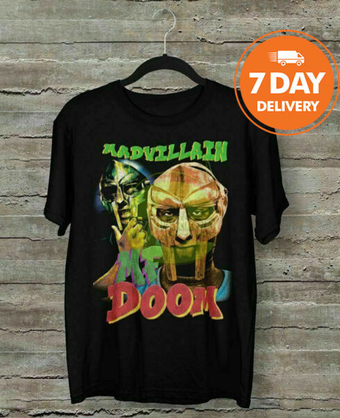 MF Doom Vintage 90#x27;s Hip Hop Rap Tour T Shirt Cotton Full Size