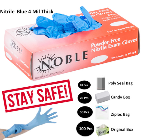 GLOVES 10 20 50 100 PACK NITRILE LATEX VINYL ALL POWDER FREE amp; Up to12%