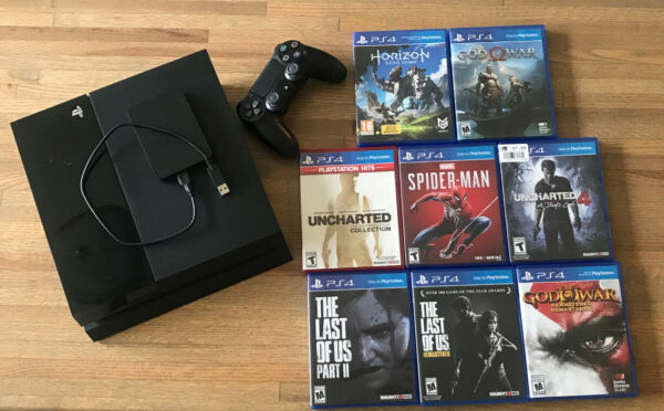 Sony Playstation 4 with Controller Games and 1TB External Hard Drive