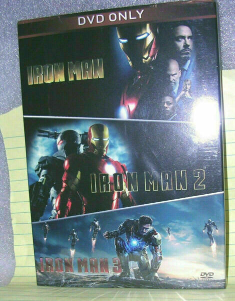 Iron Man 3 Movie Collection 3 Disc DVD Set New amp; Sealed Free Shipping Included $14.88