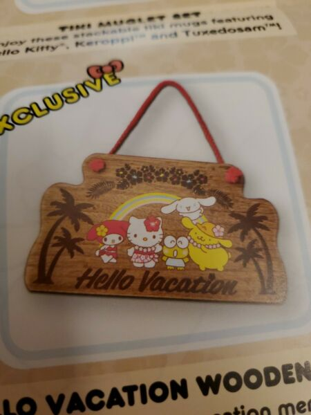 Loot Crate Sanrio Hello Kitty amp; Friends Exclusive Hello Vacation Wooden Sign