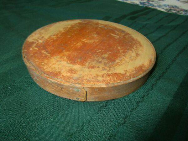 ANTIQUE PANTRY BOX LID COVER... GOOD CONDITION